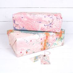 Marbled wrapping paper by Katie Leamon | Shedquarters
