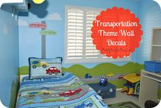Transportation Themed Wall Decals | Expressions Vinyl Blog