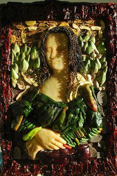 Mona Lisa in Italian food products [Jim Victor] (Gioconda / Mona Lisa)