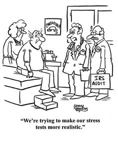 """""""We're trying to make our stress tests more realistic."""" #humor #nurse #stress"""