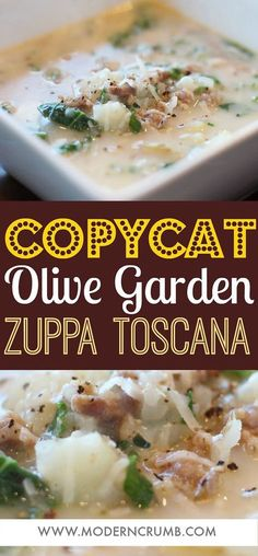 Copycat Olive Garden Zuppa Toscana Soup | Easy and Delicious Family Friendly Recipes | Arizona | Modern Crumb