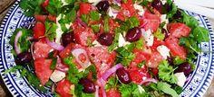 Zomerse Salade Met Watermeloen, Feta En Olijven recept | Smulweb.nl