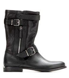 Burberry Brit - Grantville leather biker boots  - mytheresa.com GmbH