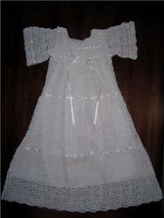 Christening Gown Crochet Pattern -- PDF 951: Elizabeth's Blessing/Christening Dress Thread Crochet Pattern. $4.95, via Etsy.