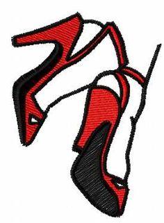High heel free embroidery design