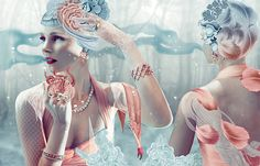 """Illustration by Vesna Pesic (aka BECHA) from the series """"Neptune's Daughters"""" for fashion magazine Schön! Foto Fashion, Fashion Art, High Fashion, Womens Fashion, Computer Art, Behance, Foto Art, Design Graphique, Photo Illustration"""