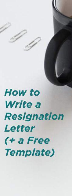 13 best resignation letter sample images