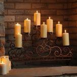 Scrolled Copper Fireplace Candelabra | Kirklands