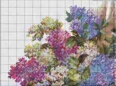 Embroidery scheme Fragrance of lilac (Wonderful needle) 1 from 4