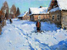Alexander Kremer, Russian, March, oil on canvas, 60 x 80