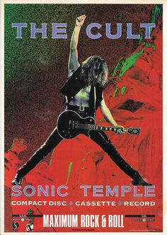 Maximum Rock & Roll... 'Sonic Temple' Press Ad - Billy Duffy
