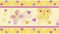 Bordüre: Schmetterlinge • mit Pastellkreide gezeichnet • Mein Bordürenladen - Dawanda Bordüre: Wildpferde • www.meinborduerenladen.de