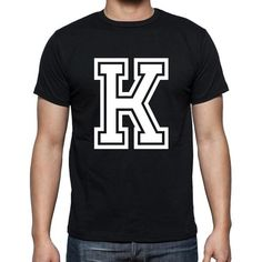 #K #letter #tshirt #men #black A cool t-shirt with a magic touch! Shop online --> https://www.teeshirtee.com/collections/collection-1-letter/products/k-mens-short-sleeve-rounded-neck-t-shirt