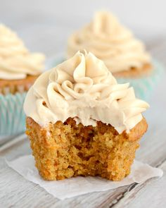 These Carrot Cake Cupcakes have a Brown Sugar Cream Cheese Frosting that is heavenly. These moist cupcakes have just the right amount of spice, and will be perfect for any Spring or Easter celebrations.