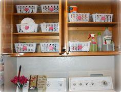Laundry Room Organization http://www.joy-n-jesus.blogspot.com/2013/04/laundry-room-organization.html