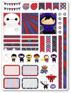 Robot Heroes Decorating Kit / Weekly Spread Planner Stickers