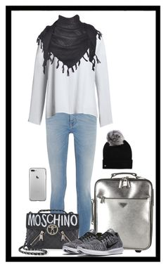 """""""Untitled #1673"""" by ebramos ❤ liked on Polyvore featuring Givenchy, Prada, Canvas by Lands' End, Moschino, NIKE and UGG"""