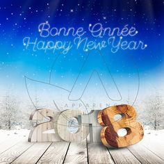 carte de voeux 2018 - Flocons neige New Year 2018, Nouvel An, Neon Signs, Map Pictures, Greeting Cards, Flakes, Snow