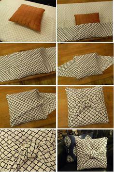 DIY no sew easy throw pillow