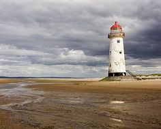 At Talacre Beach and lighthouse, near Mostyn, North Wales