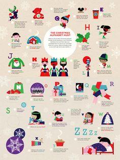 Spencer Wilson - Westfield  Tiphaine-illustration  #christmas #alphabet #kids