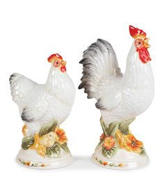 Chanteclair Rooster Salt and Pepper Shakers.