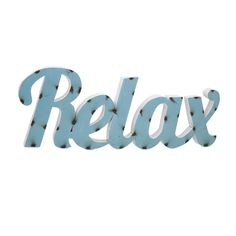 IMAX Worldwide Home | Relax Metal Wall Decor - For all those who need a reminder: Hang this reinforcing message written in iron on a wall, breathe deep, sit back and admire. | Spears Furniture