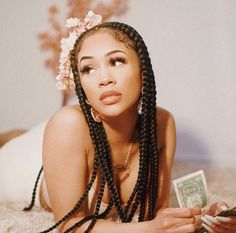 f e m a l e : saweetie: 💅🏽 Saweetie Icy Grl, Icy Girl, Baddie Hairstyles, Braided Hairstyles, Pretty Hairstyles, Curly Hair Styles, Natural Hair Styles, Black Girl Aesthetic, White Aesthetic