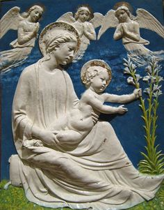 Luca della Robbia (this is one of his pieces, not his photo)