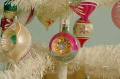 pictures of vintage christmas decorations - Google Search
