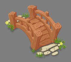Wooden Bridge, Saleh Ahmed on ArtStation at https://www.artstation.com/artwork/g9AGZ