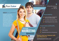 Flyer Design www.peer2utor.com