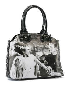 Inked Boutique - We Belong Dead Bride Of Frankenstein Handbag Black Universal Monsters Classic Horror Goth http://www.inkedboutique.com