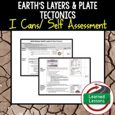 Earth's Layers & Plate Tectonics Self Assessment of Mastery I CansThis product can also be purchased in several BUNDLES to save $$. EARTH SCIENCE PAGEVISIT MY STORE AND FOLLOW TO GET UPDATES WHEN NEW RESOURCES ARE ADDED  INCLUDES THE FOLLOWING The following topics are represented: Forces (Magnetism, Gravity, & Friction) MagnetismGravityFrictionEffects of ForcesNet ForceUnbalanced ForcesNewtons Three LawsPredicting Direction  The following topics are represented: DensityEarths LayersEa...