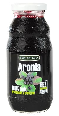 Sok z aroni. Chokeberry juce. Sok z wycisnietych owoców aronii, bez żadnych dodatków, pasteryzowany. Aronia jest znanym owocem zalecanym na nadciśnienie. Jest też bogata w witaminy i mikroelementy. Berries, Container, Herbs, Candy, Snacks, Fruit, Appetizers, Bury, Herb