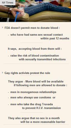 #FDA prohibits Gay #BloodDonation citing contamination with STIs as reason #Orlando #finance http://arzillion.com/S/Fdm1YA