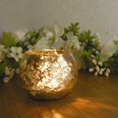 Found it at Wayfair - Amber Home Products Champagne Etched Glass Diamond Shaped Votive