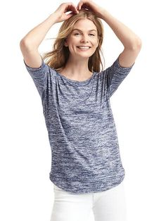 Soft spun knit tee Gap  I would wear this for work (at home)