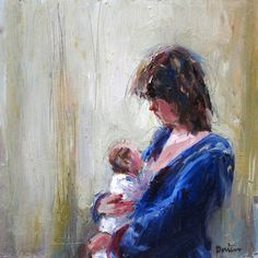 Dorien van den Tol painted this intimate portrait. We love her way of storybrushing in oil on canvas.