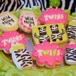 I DO invitations by michelle: Born to be Wild - A Zebra Themed Twin Girls Baby Shower Baby Shower Parties, Baby Shower Themes, Shower Ideas, Zebra Nursery, Zebra Baby Showers, Zebra Party, Pink Animals, Baby Blog, Baby Shower Cookies