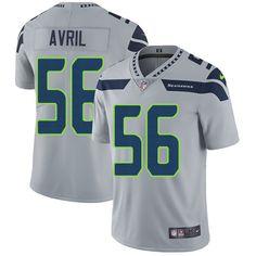 Nike Seahawks #56 Cliff Avril Grey Alternate Men's Stitched NFL Vapor Untouchable Limited Jersey