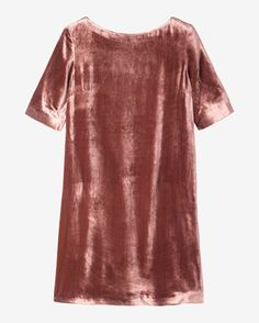 Women's Silk Velvet Shift Dress