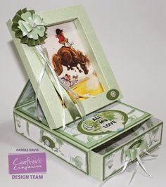 @crafterscompuk - Thelwell CD1 - Frame Card 2 -Design Set 8/4 - Co-ordinating paper 10/6, 3/3 - Embellishments 1, 2 - Sentiments 1 - Die'sire:Essential Ovals - Embossalicious:A4 Dottie - Watercolour Card