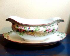 Noritake China Pattern Mystery #40 Antique Nippon Gravy Boat   Pottery & Glass, Pottery & China, China & Dinnerware   eBay!