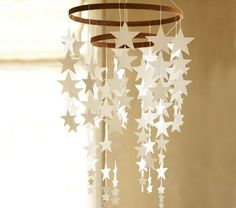 Hanging Star Decor | Pottery Barn Kids...  Easy DIY with my cameo and some embroidery hoops!