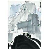Wu Guanzhong - WATERFALL IN MOUNT HUANGSHAN, ink... on MutualArt.com