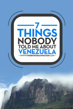 Venezuela; a vast, largely unexplored country famed for it's towering peaks, tumbling falls, and insane inflation. Here is what else you need to know!