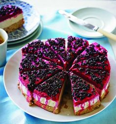 Raw Raspberry Cheesecake recipe from Luke & Scott's 'Clean Living Cookbook'. #raw #dessert #healthy