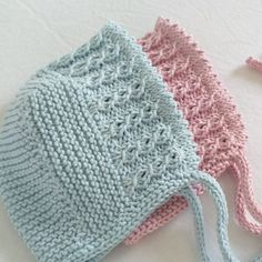 Baby Hats Knitting, Knitting For Kids, Baby Knitting Patterns, Baby Patterns, Hand Knitting, Knitted Hats, Knit Or Crochet, Double Crochet, Crochet Stitches