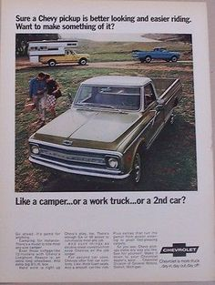 1970 chevrolet #custom camper #pickup c20 & c10 truck #photo vintage print ad, View more on the LINK: http://www.zeppy.io/product/gb/2/221999032709/